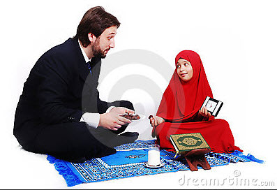 daughter-and-father-beautiful-ramadan-kareem-wallpaper