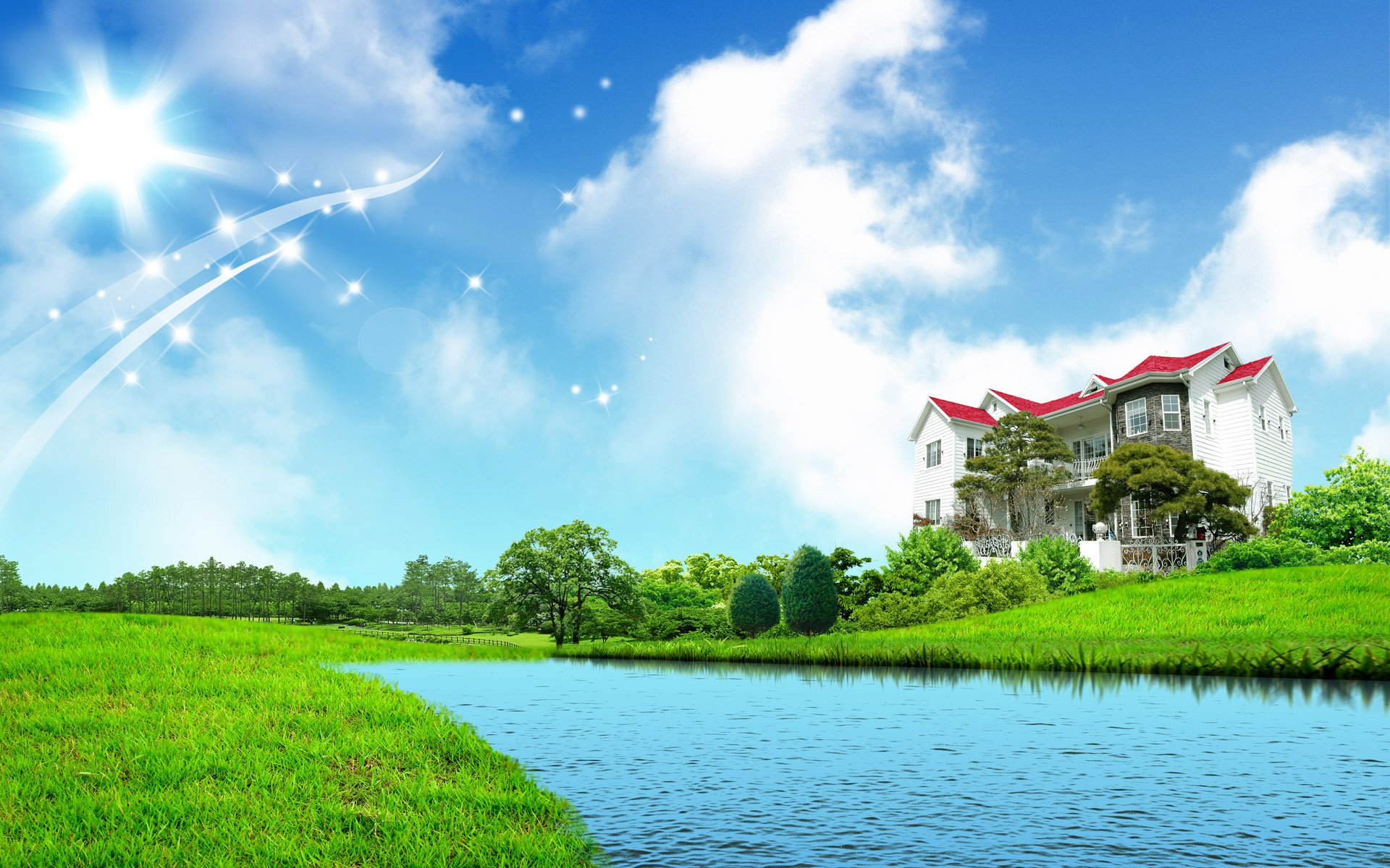 world-most-beautiful-home-view-with-lake-picture-wallpaper