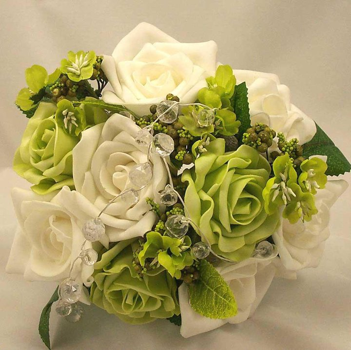 beautiful green white rose flower images 2012 2013 - For Zindagi Sis