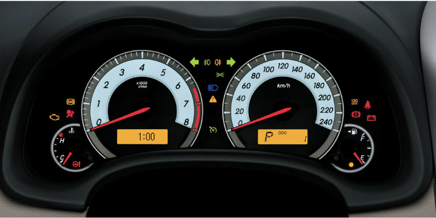 Latest-Toyota-Corolla-2013-Interior-speed-meter