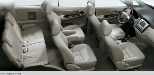 Toyota Innova-2013 Interior Picture and Color and Leather Seats.