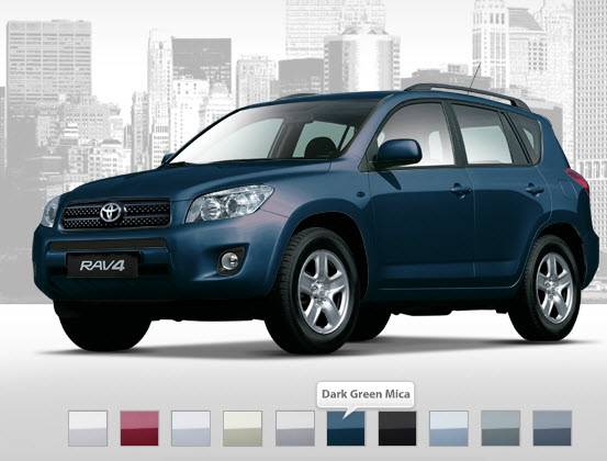 Latest-Toyota-Rav4-model-Drak-green-Mica-Color-Review-specification