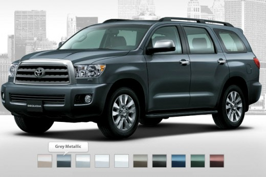 Toyota-2013-Grey-Metallic-color-car-Sequoia