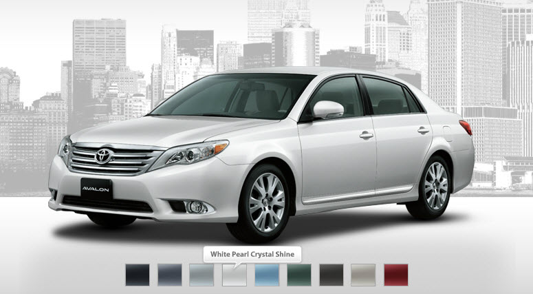 Toyota-Avalon-2013-available colors in markets