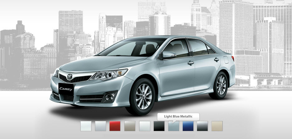 Toyota-Camry 2013-available colors-range-USA-Dubai-Pakistan-India- in markets