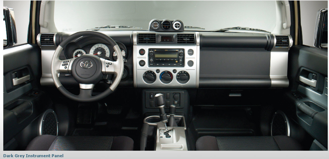 Toyota-FJ-Cruiser-2013-Interior-Dark-Grey-Instrument-panel