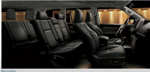 Toyota-Land-Cruiser-Prado-2013-interior-black-color-leather-seats