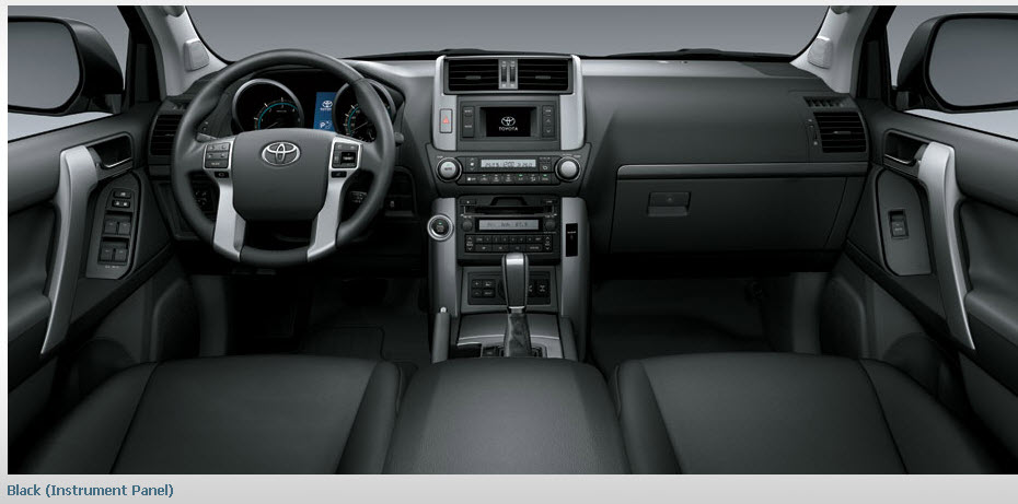 toyota land cruiser prado 2013 interior black color leather