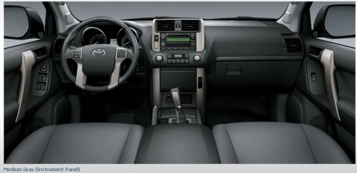 Toyota-Land-Cruiser-Prado-2013-interior-gray-color-leather-seats