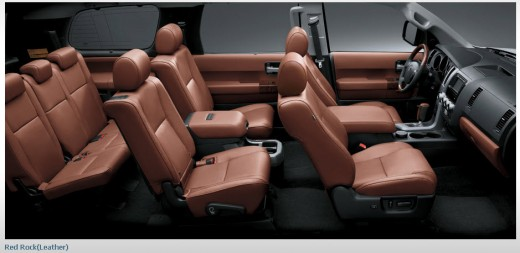 latest-toyota-sequoia-2013-Interior-Leather-seats-cover-picture
