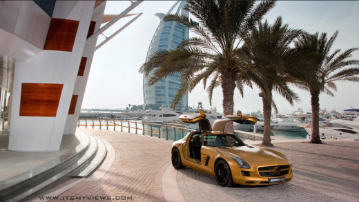 2013-mercedes benz HD-widescreen wallpaper in Dubai Burj Arab