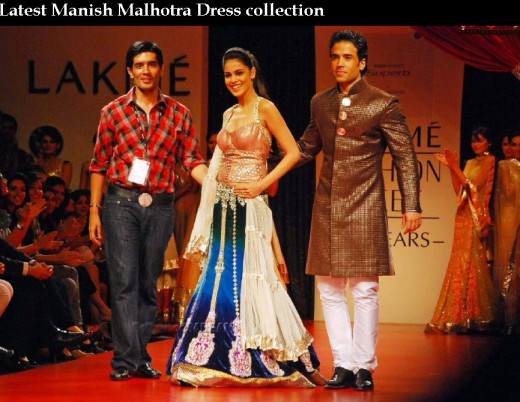 India Top Fashion designer Manish Malhotra  dress Collection picture 2013 2014
