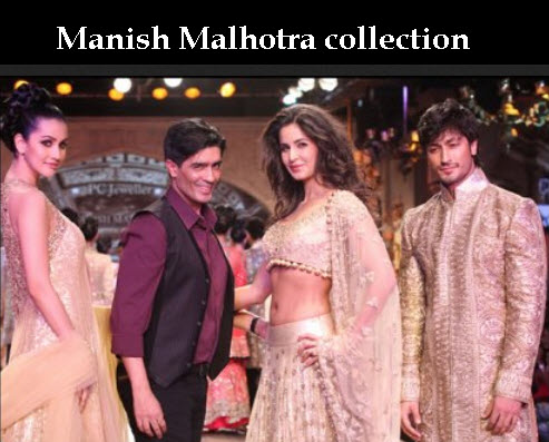 ManishMalhotra bridal and groom dress collection 2013 2014