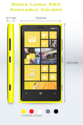 Nokia-Lumia920 Available Colors in Dubai India Pakistan