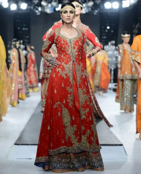 Pakistani-Bridal-dress-designer-2013 in Lahore Karachi