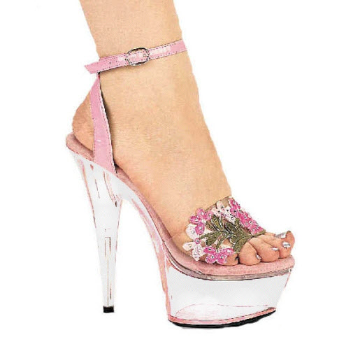 Pink-color-very-high-heel-6 inch shoe 2013 design