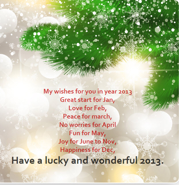 happy newyear 2013 ecards greeting messag to friend share