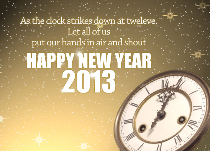 Latest Happy New-Year 2013 HD Widescreen Wallpaper for