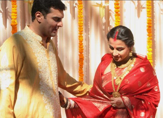 Vidya Balan Indian Actress Wedding Picture
