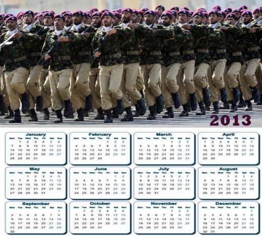 2013 Calendar Pakistan Army SSG Commando HD widescreen wallpaper