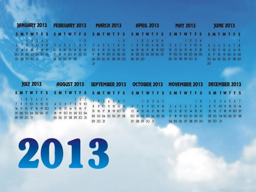 2013-Calendardesktop wallpaper