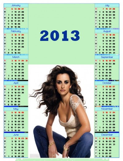 2013-calendar-Hollywood Actress Hot Girl Wallpaper