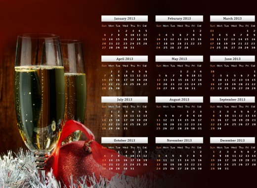 2013 calendar beautiful HD widescreen wallpapers