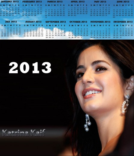 2013-calendar bollywood katrina-kaif actress picture wallpaper