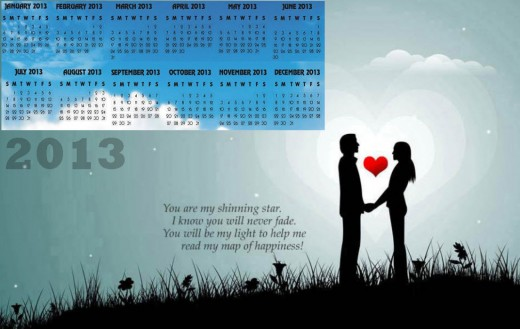 2013-calendar romantic couple background desktop pc