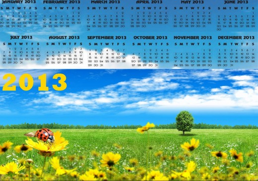2013-calendar with holidays-HD-widesceen wallpaper background