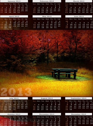 Beautiful 2013-calendar HD widescreen wallpaper