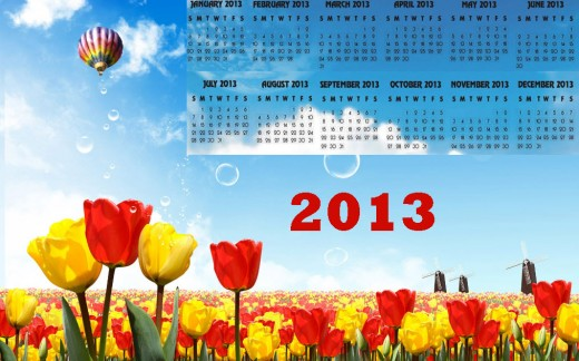 Beautiful 2013calendar high defination widescreen wallpaper