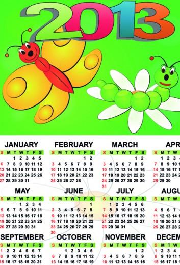 Calendar-2013 for kids