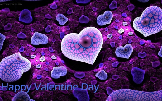 Colorful-Valentine Day 3D-Wallpaper widescreen for Iphone
