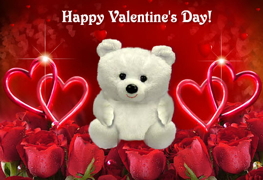 Latest-happy-valentine-day-teddy bear wallpaper-2013-2014