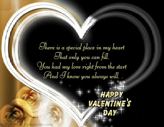 valentine card romantic messages – Valentine Card for Lover