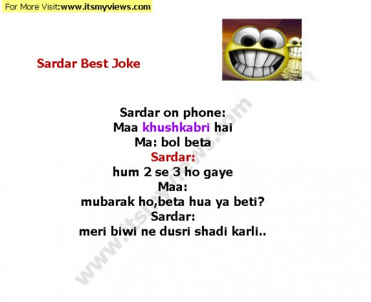sardar husband wife urdu funny joke 2013
