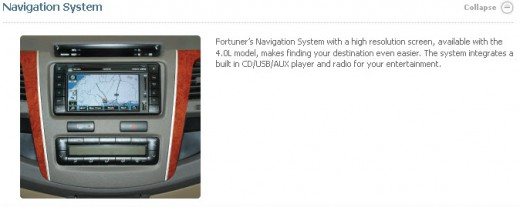 toyota fortuner 2013 navigation system picture