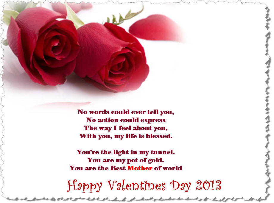 valentine day wishes message for mother - Happy Valentines Day Wishes