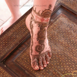 Latest Foot Mehndi Design For Bridal and EID day Picture 2013 2014