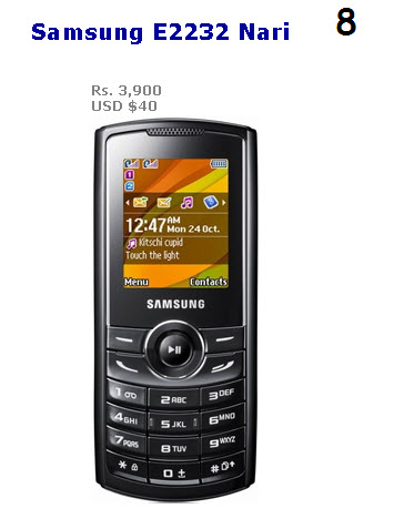 Cheapest Camera Mobile 2013 Samsung E2232 Nari