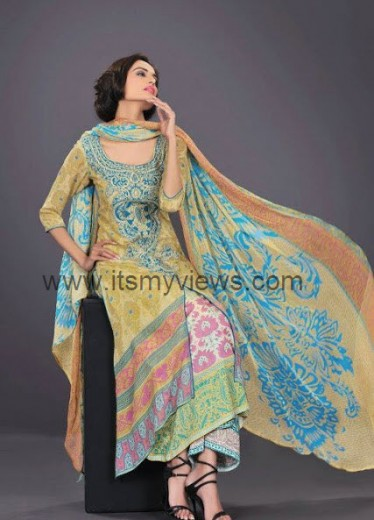 Latest hsy summer lawn collection 2013-2014