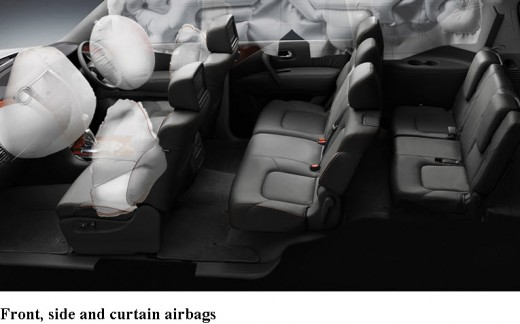 Nissan-Patrol-2013 2014 Interior-safety-SRS airbags picture
