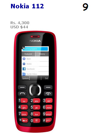 Nokia-112 Low-Price Cheap Camera Phone 2013 2014