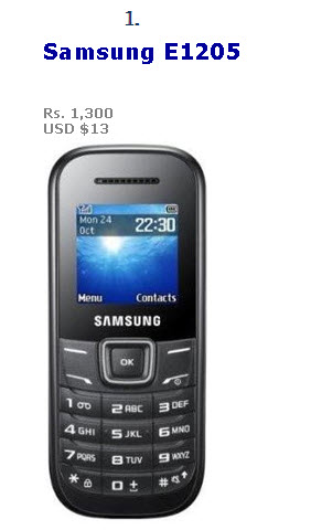 Samsung-Cheapest-Mobile-Model 2013-E1205 Price in Pakistan and USA