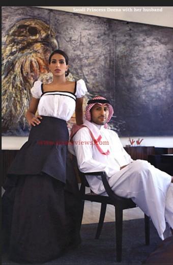 Saudi-Princess-Deena-with-her-husband