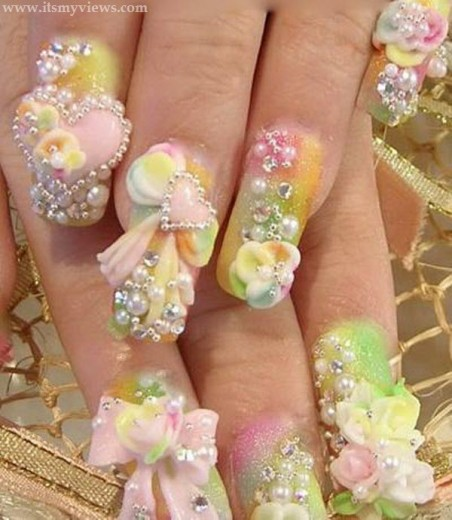 Wedding-Nail-Art-For-Women-2013-2014