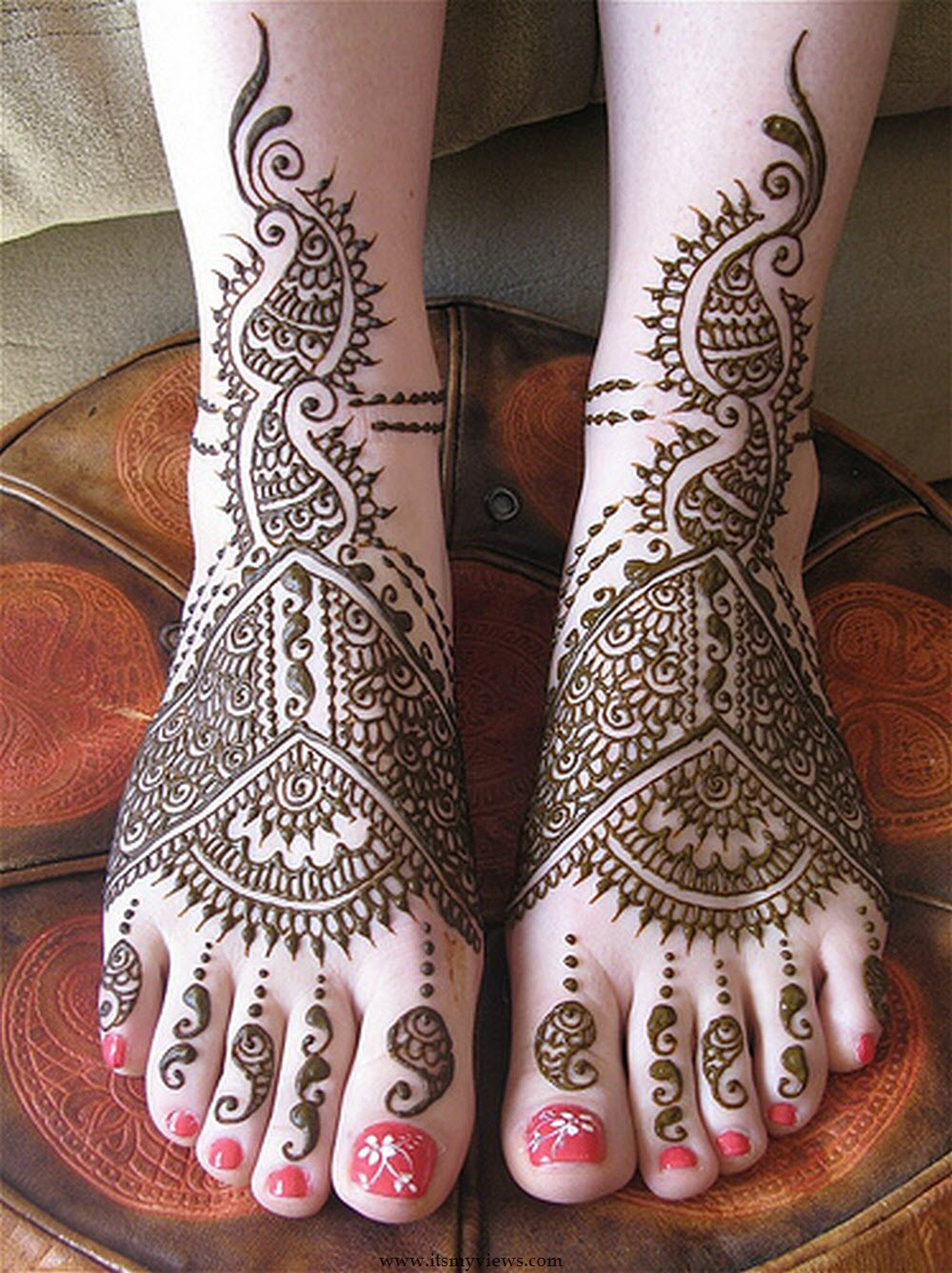 Latest Foot Mehndi Design For Bridal And Eid Day Picture 2015 2016