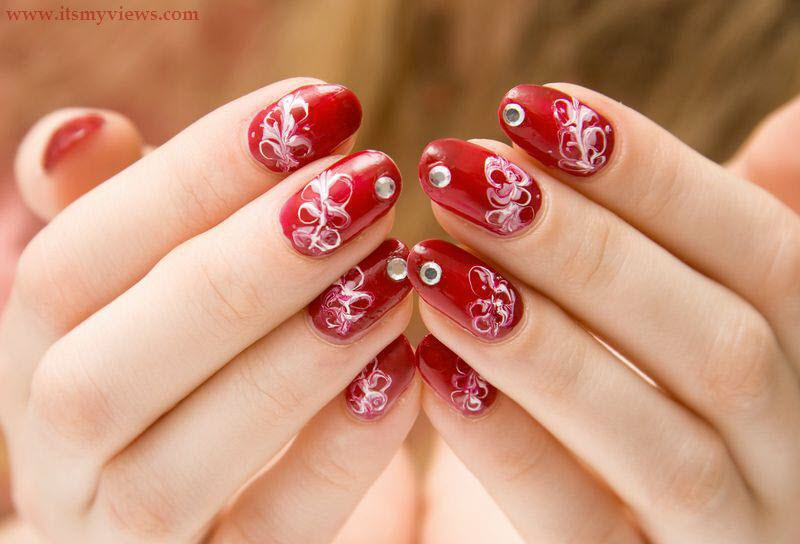 It is the beautiful multicolor nail design in this design