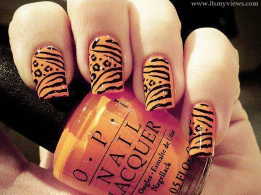 beautiful-tiger-print-nail-art-design-2013-2014